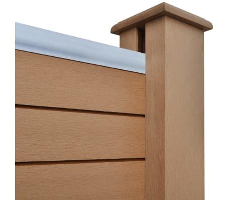 acheter vidaxl panneau de cl ture de jardin 3 pcs bois composite marron 538 cm pas cher. Black Bedroom Furniture Sets. Home Design Ideas