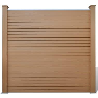 Vidaxl pannelli recinzione da giardino 3 pz in wpc marrone for Pannelli recinzione giardino