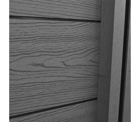 vidaXL Панел за градинска ограда, 2 бр, WPC, сив, 361 см[6/9]