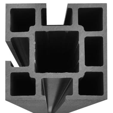 vidaXL Панел за градинска ограда, 2 бр, WPC, сив, 361 см[7/9]