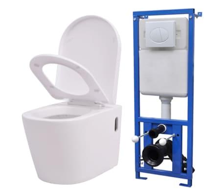 Acheter vidaxl toilette murale avec r servoir cach for Ceramique murale pas cher