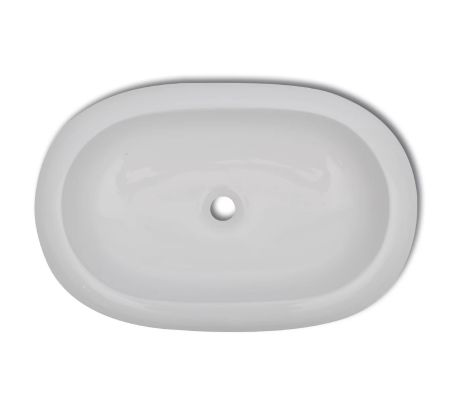 "vidaXL Luxury Ceramic Basin Oval-shaped White 24.8""x16.5""[3/6]"