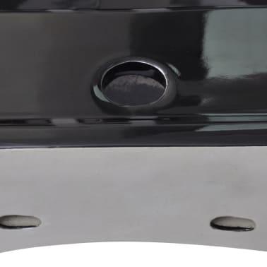 "vidaXL Luxury Ceramic Basin with Faucet Hole 23.6""x18.1"" Black[5/6]"