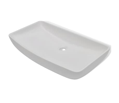 "vidaXL Luxury Ceramic Basin Rectangular 28""x15"" White[2/6]"