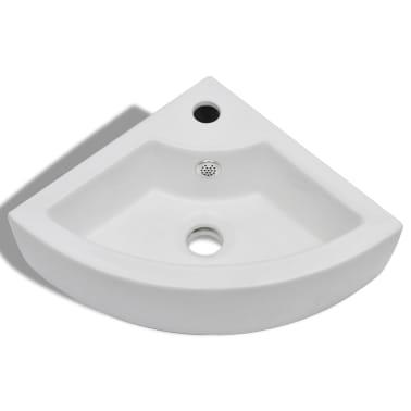 "vidaXL Bathroom Basin Ceramic 17.3""x12.2"" White[3/7]"