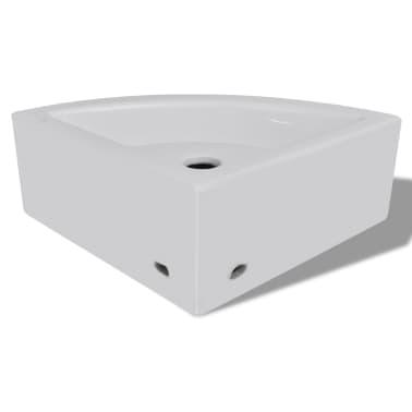 "vidaXL Bathroom Basin Ceramic 17.3""x12.2"" White[6/7]"
