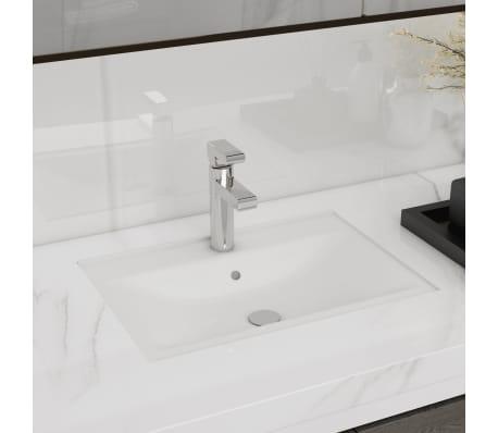 "vidaXL Bathroom Basin Ceramic White 18.3""x12.6""x4.5""[1/6]"
