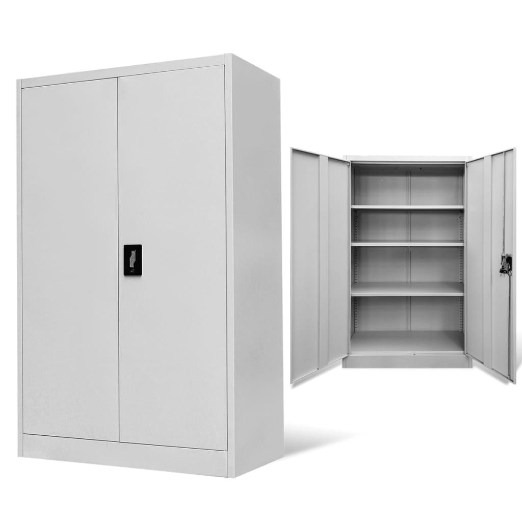 vidaXL Kancelářská skříň ocelová šedá