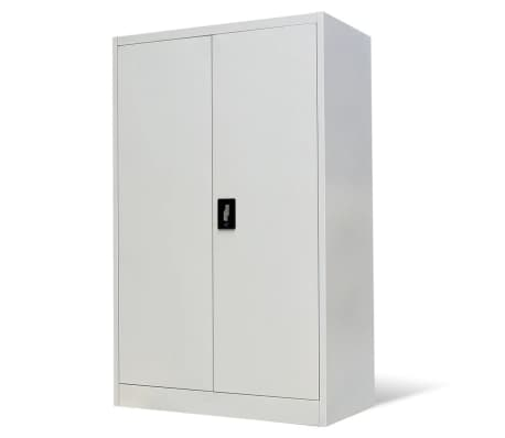 vidaXL Office Cabinet 90x40x140 cm Steel Grey[2/9]