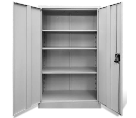 "vidaXL Office Cabinet 35.4""x15.7""x55.1"" Steel Gray[4/9]"