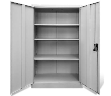 vidaXL Office Cabinet 90x40x140 cm Steel Grey[4/9]