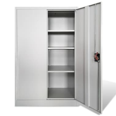 vidaXL Office Cabinet 90x40x140 cm Steel Grey[3/9]