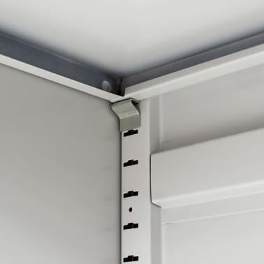 vidaXL Office Cabinet 90x40x140 cm Steel Grey[5/9]