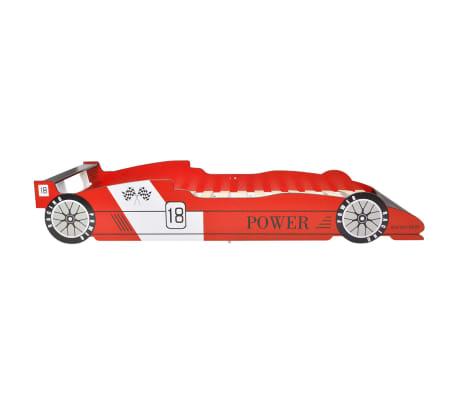 vidaXL Vaikiška lova lenktyninė mašina, 90x200 cm, raudona[3/6]