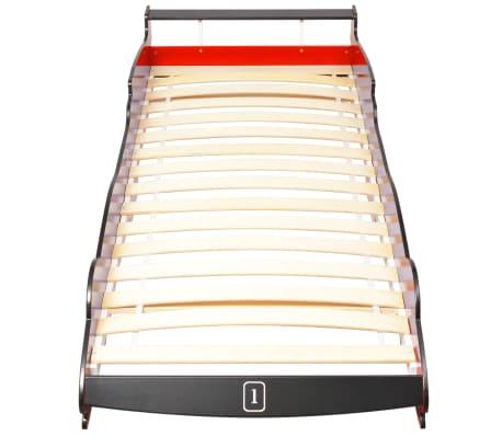 vidaXL Vaikiška lova lenktyninė mašina, 90x200 cm, raudona[4/6]