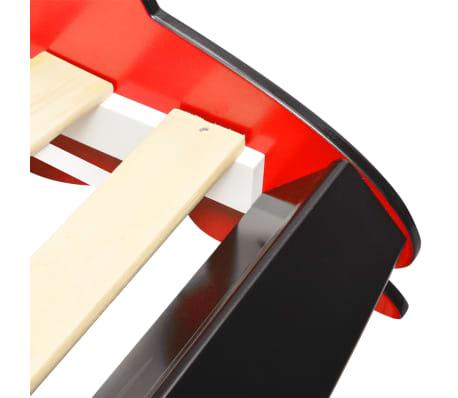 vidaXL Vaikiška lova lenktyninė mašina, 90x200 cm, raudona[5/6]