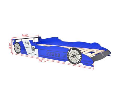 acheter vidaxl lit voiture de course pour enfants 90 x 200 cm bleu pas cher. Black Bedroom Furniture Sets. Home Design Ideas