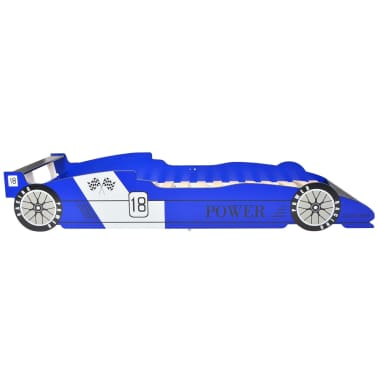 vidaXL Vaikiška lova lenktyninė mašina, 90x200 cm, mėlyna[3/6]