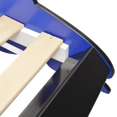 vidaXL Vaikiška lova lenktyninė mašina, 90x200 cm, mėlyna[5/6]