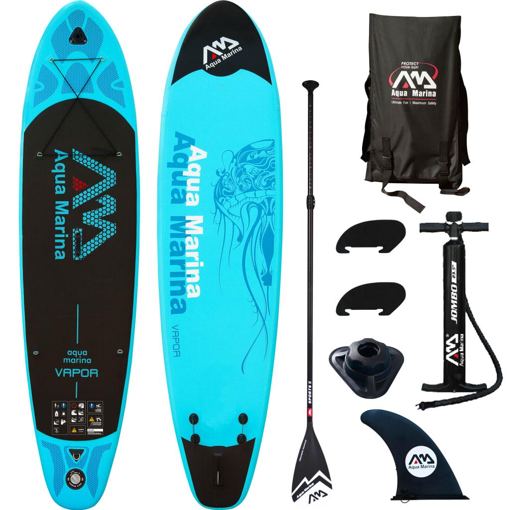 "Aqua Marina Placă pentru surf SUP ""Vapor"" Albastru 330x75x10 cm poza 2021 Aqua Marina"