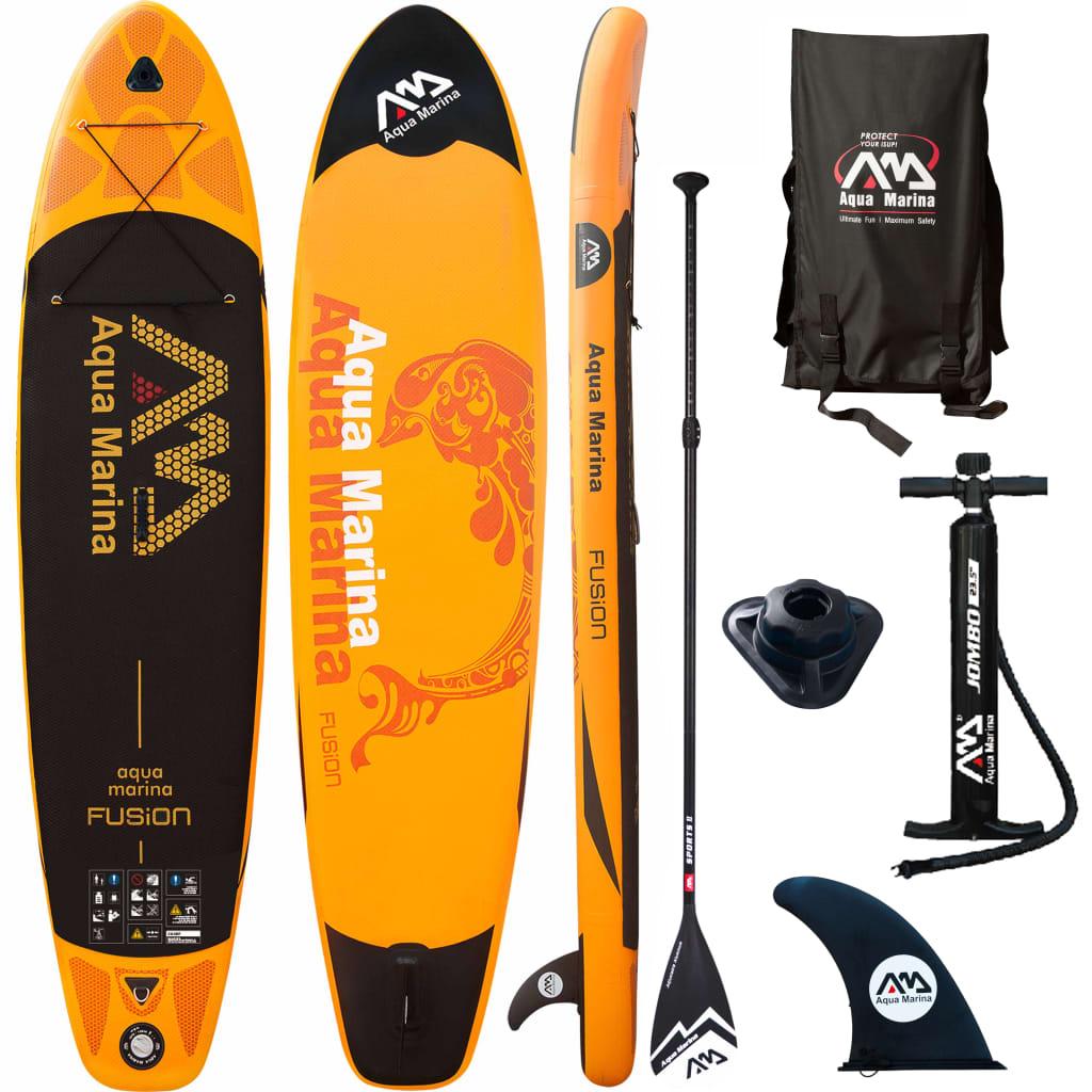 "Aqua Marina Placă surf gonflabilă ""Fusion"", portocaliu, 330x75x15 cm poza vidaxl.ro"
