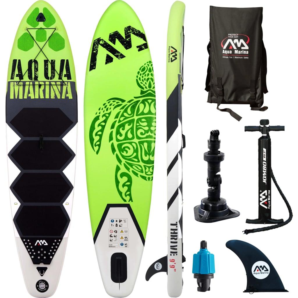 "Aqua Marina Placă pentru surf SUP ""Thrive"" verde, 300x75x15 cm imagine vidaxl.ro"