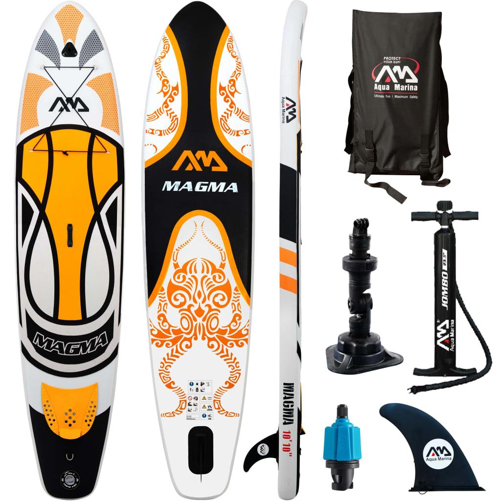 Aqua Marina Placă surf SUP Magma, portocaliu, 330x75x15 cm imagine vidaxl.ro