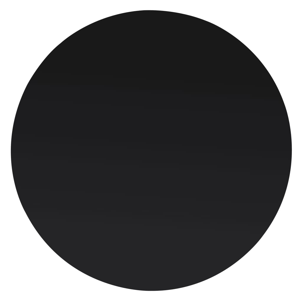 vidaXL Tafelblad van gehard glas 400 mm rond