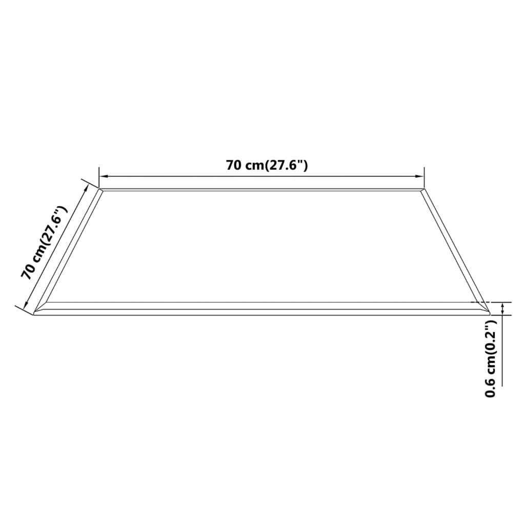 vidaXL Stolna Ploča od Kaljenog Stakla Pravokutna 700x700 mm