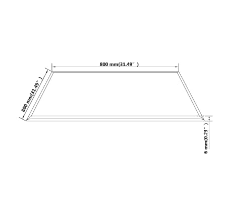 "vidaXL Table Top Tempered Glass Square 31.5""x31.5""[4/4]"