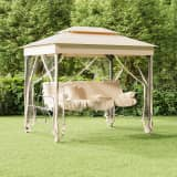 vidaXL Gazebo Convertible Swing Bench Cream White