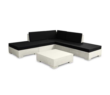vidaXL 6-cz. zestaw wypoczynkowy do ogrodu, poduszki, beton, szary[2/11]