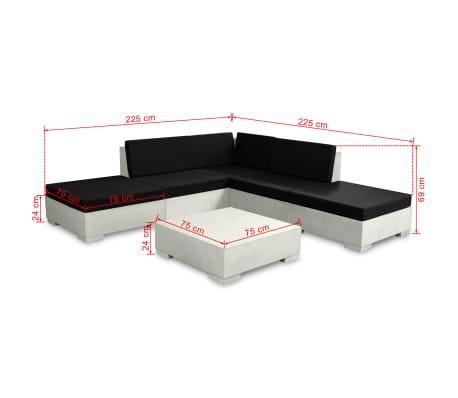 vidaXL 6-cz. zestaw wypoczynkowy do ogrodu, poduszki, beton, szary[10/11]