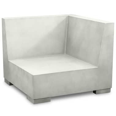 vidaXL 6-cz. zestaw wypoczynkowy do ogrodu, poduszki, beton, szary[5/11]