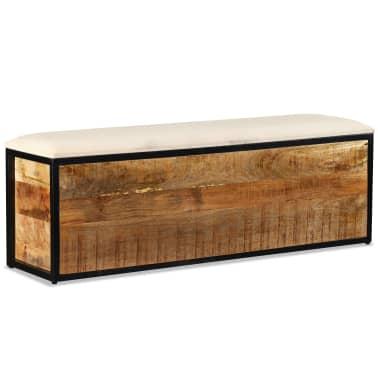 vidaXL Klupa za Pohranu s 3 Ladice Masivno Drvo Manga 120x30x40 cm[8/11]