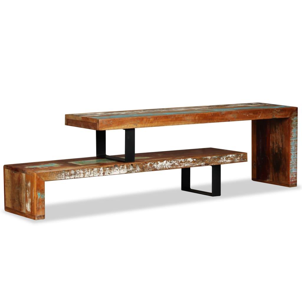 vidaXL Stolik pod telewizor z litego drewna z odzysku