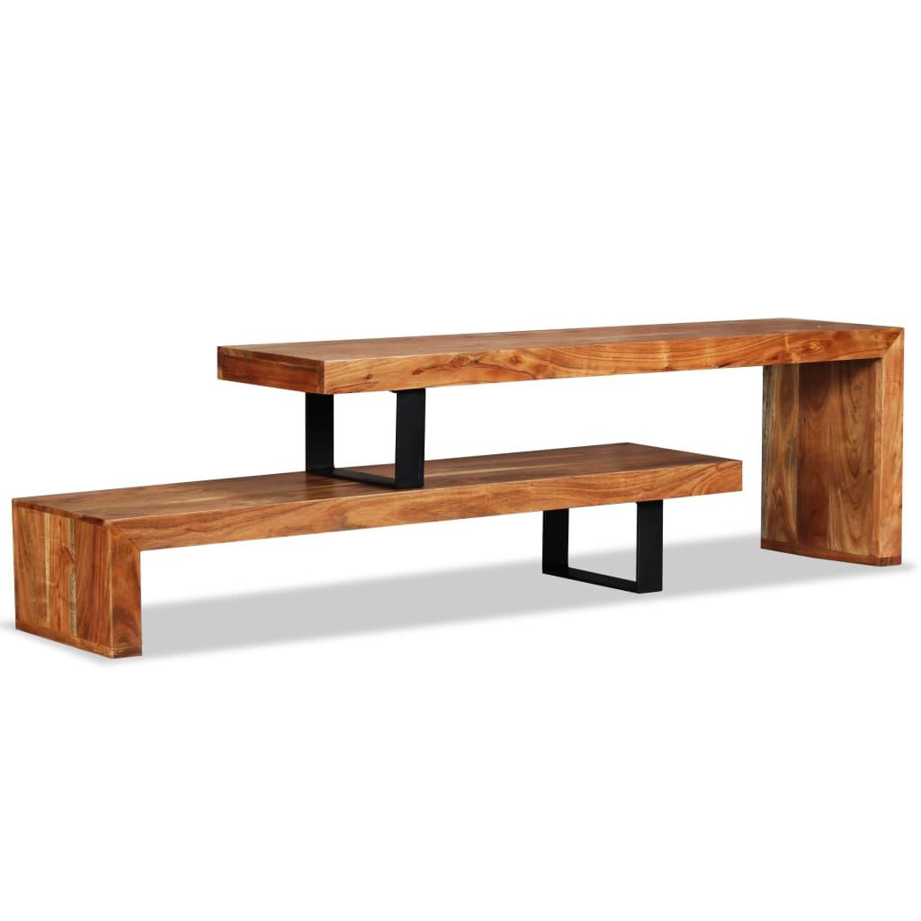 vidaXL Stolik pod telewizor, lite drewno akacjowe