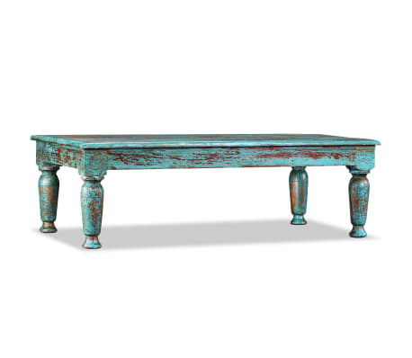 vidaXL sofabord i massivt genanvendt træ 110 x 60 x 34 cm
