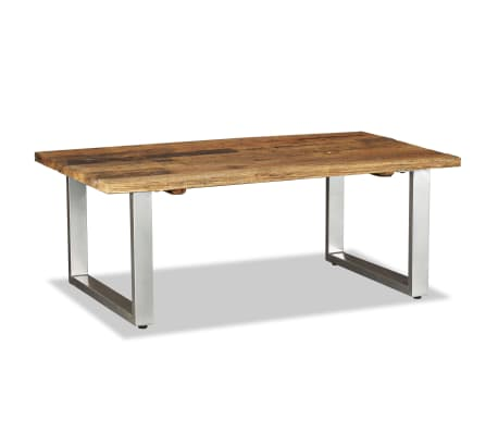 vidaXL Coffee Table Solid Reclaimed Wood 100x60x38 cm