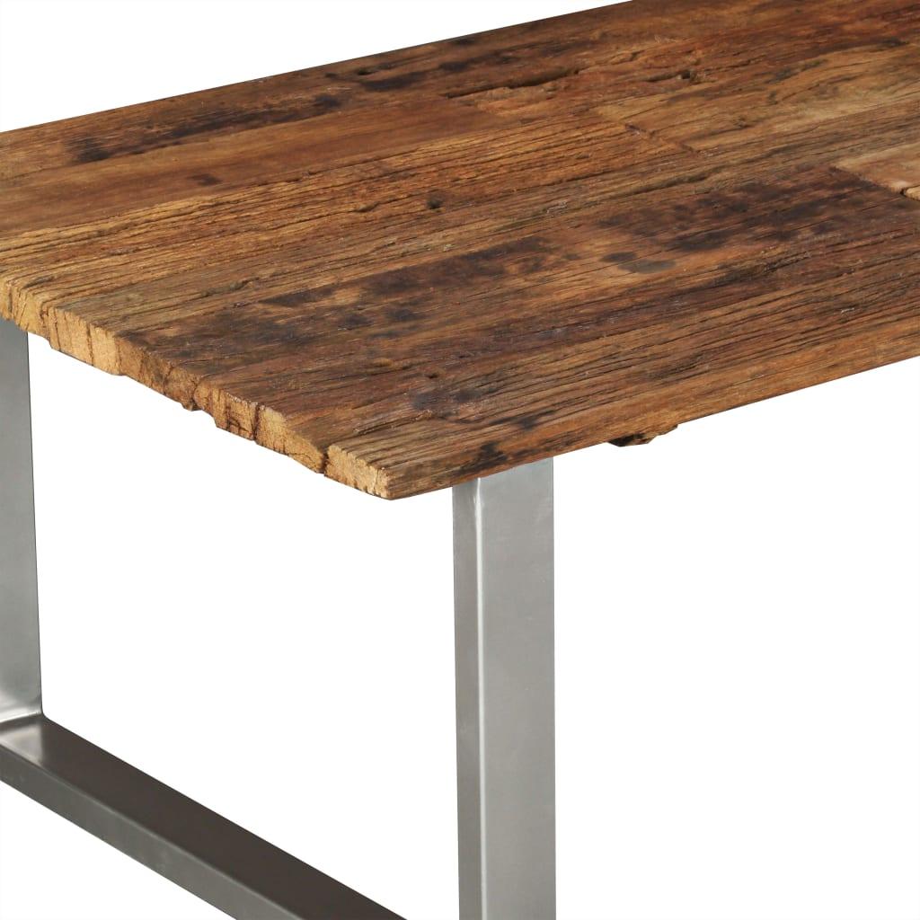 vidaXL Salontafel 100x60x38 cm massief gerecycled hout