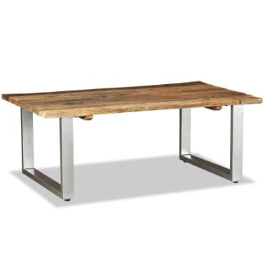 vidaXL Couchtisch Recyceltes Bahnschwellen-Holz Massiv 100x60x38 cm[2/8]