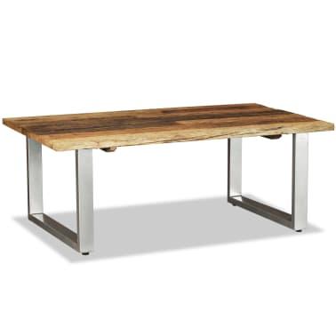 vidaXL Couchtisch Recyceltes Bahnschwellen-Holz Massiv 100x60x38 cm[4/8]