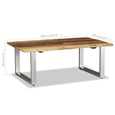 vidaXL Couchtisch Recyceltes Bahnschwellen-Holz Massiv 100x60x38 cm[8/8]