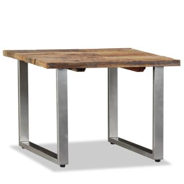 vidaXL Table basse Bois de traverses massif 55 x 55 x 40 cm[1/9]
