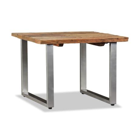 vidaXL Table basse Bois de traverses massif 55 x 55 x 40 cm[4/9]