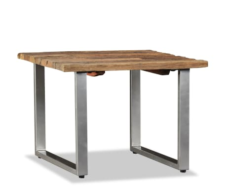 vidaXL Table basse Bois de traverses massif 55 x 55 x 40 cm[5/9]