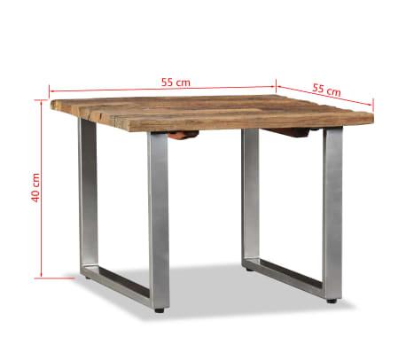 vidaXL Table basse Bois de traverses massif 55 x 55 x 40 cm[9/9]