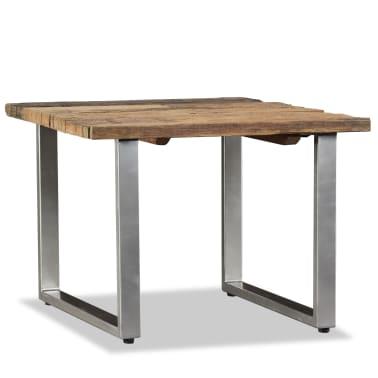 vidaXL Table basse Bois de traverses massif 55 x 55 x 40 cm[3/9]