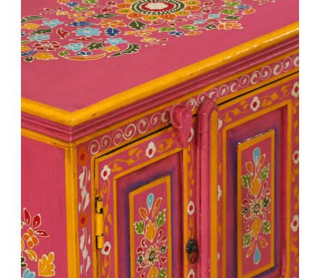 vidaXL TV staliukas, masyvi mango mediena, rožinė sp., rankomis dažyta[6/14]