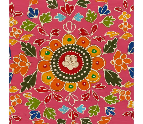 vidaXL TV staliukas, masyvi mango mediena, rožinė sp., rankomis dažyta[7/14]